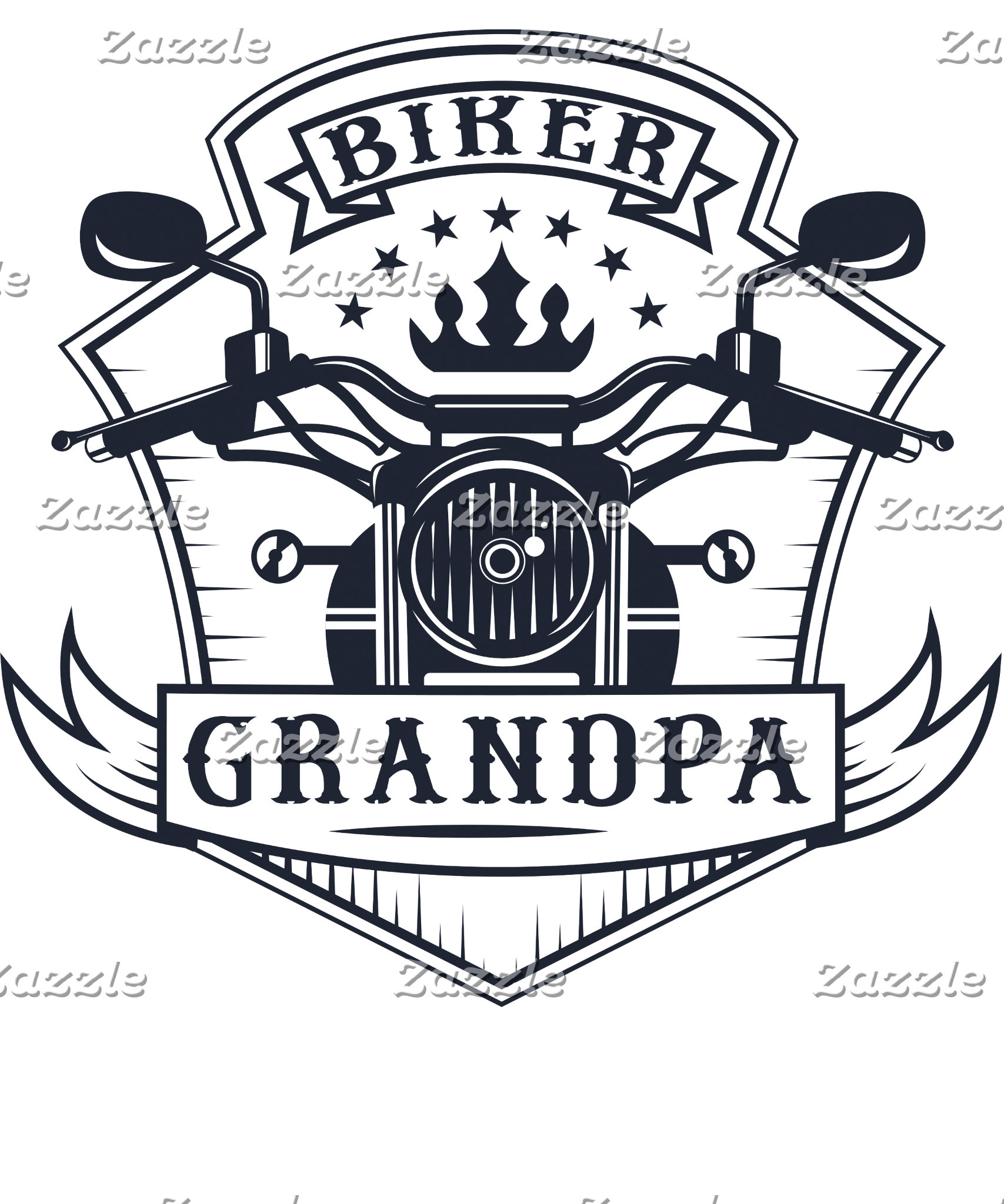 Biker Grandpa Badge