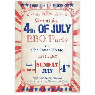 July 4th Party Invitations