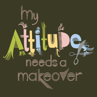 """ATTITUDE MAKEOVER lettering Poster Print"""