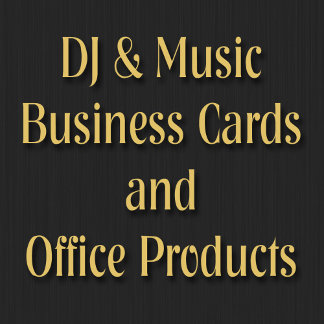 DJ and Music Business Cards Office Products