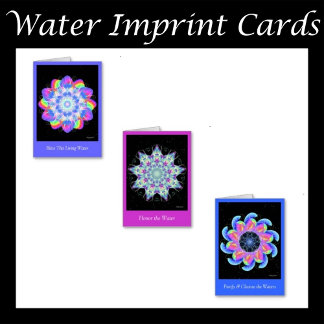 Water Imprint Greeting Cards