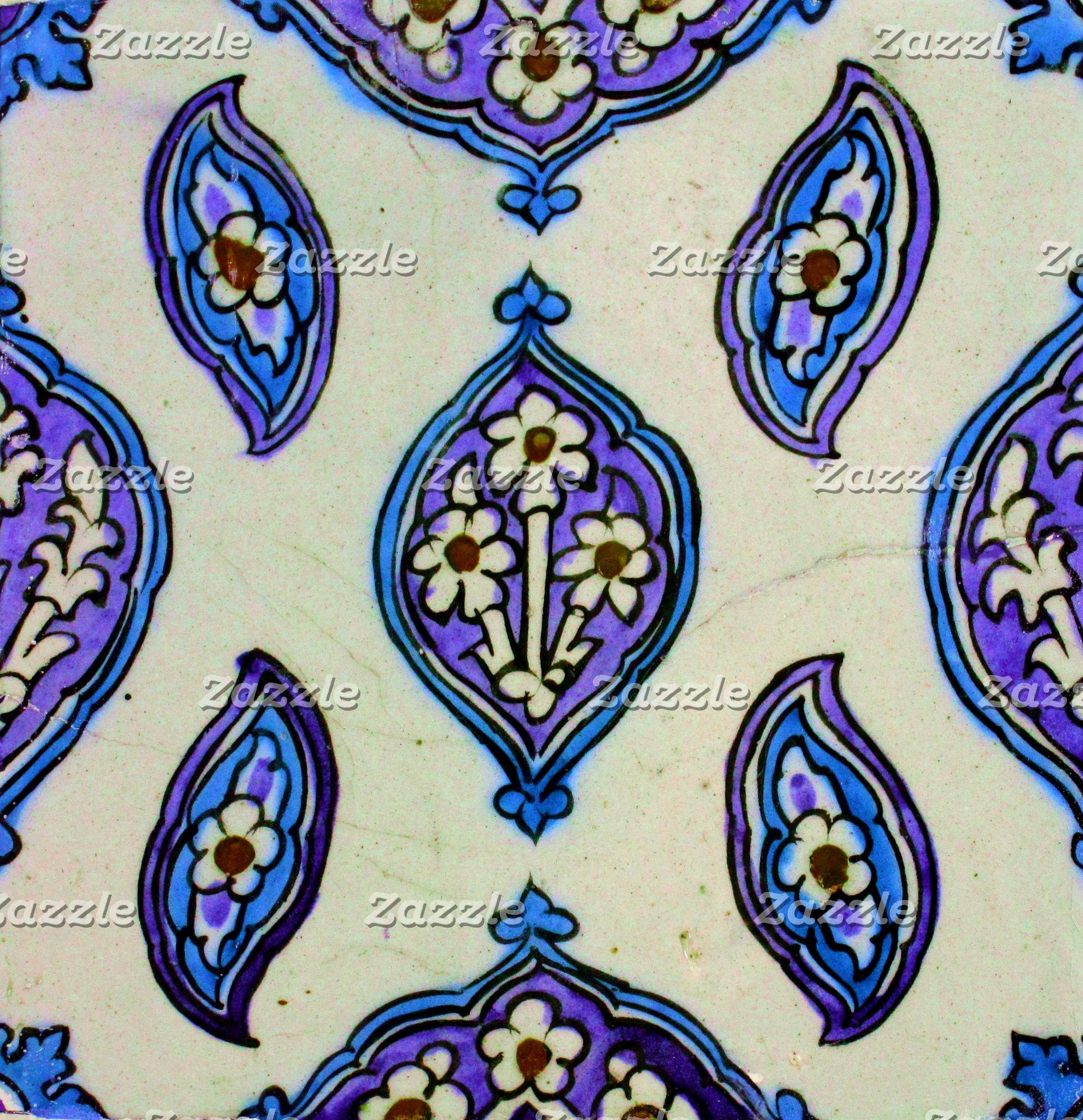 Blue and White Ottoman Tile
