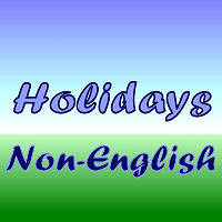 Holidays Non-English