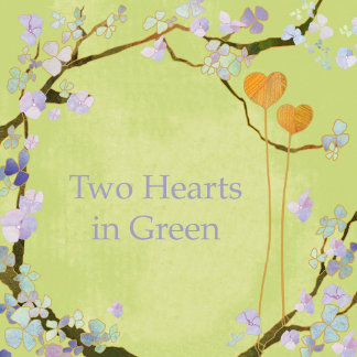 ♥ Two Hearts Green