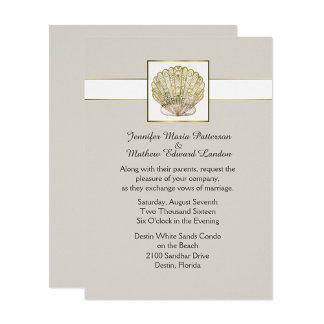 Blue or Golden Seashell Wedding Set