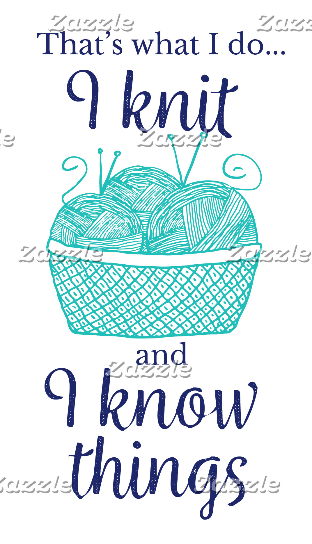 I knit and I know things