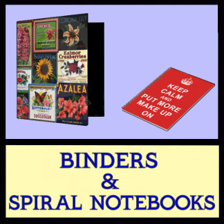 Binders Journals and Spiral Notebooks
