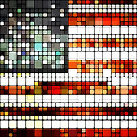 Retro Abstract American Flag