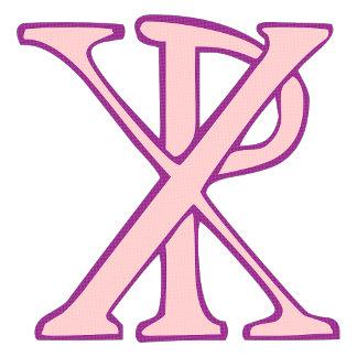 Pink Chi Ro Cross