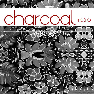Charcoal Retro Floral