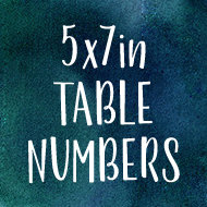 5x7in Table Numbers