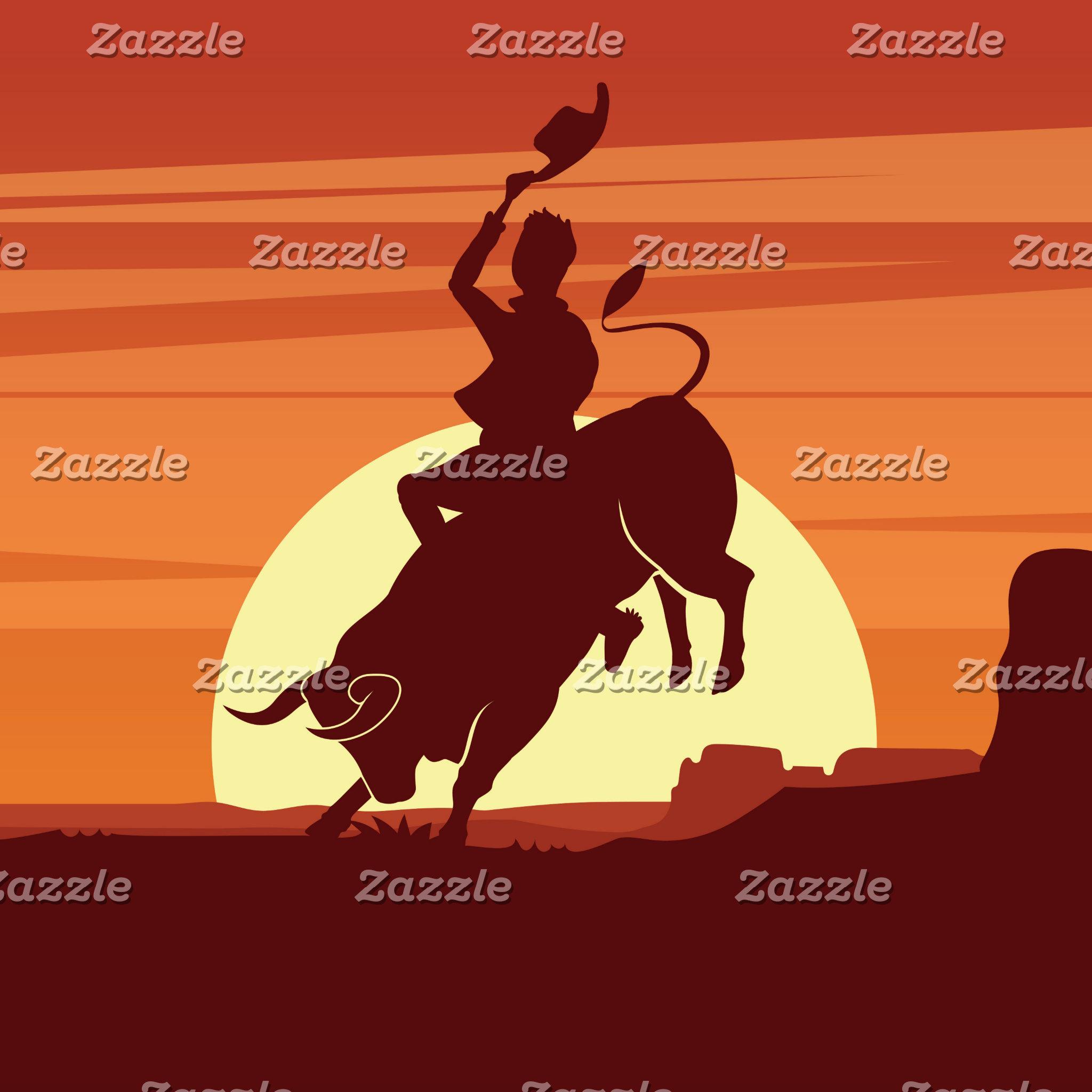 Bull Riding Cowboy