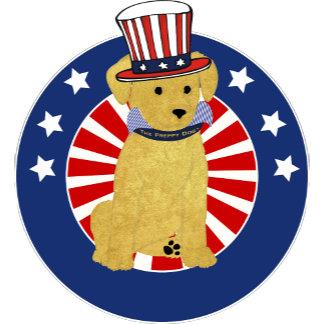 Personalized Patriotic Preppy Puppy