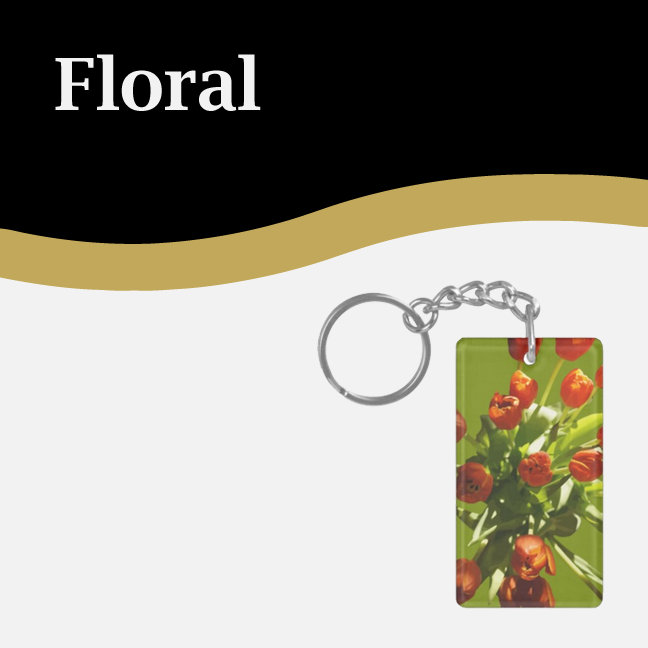 Floral Keychains
