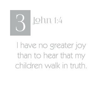 3 John 1:4 - Children Walk in Truth