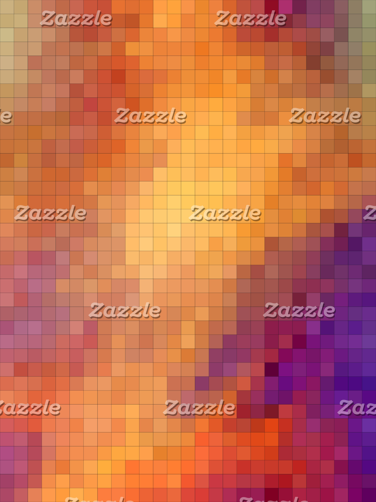 Geometric Patterns | Orange and Purple Squares