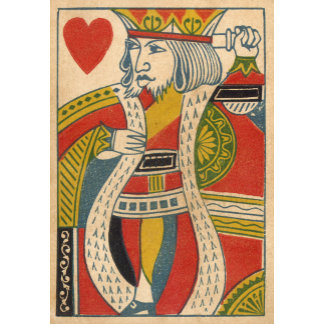 """King of Hearts Card Poster Print"""