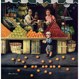 Toddler and Oranges