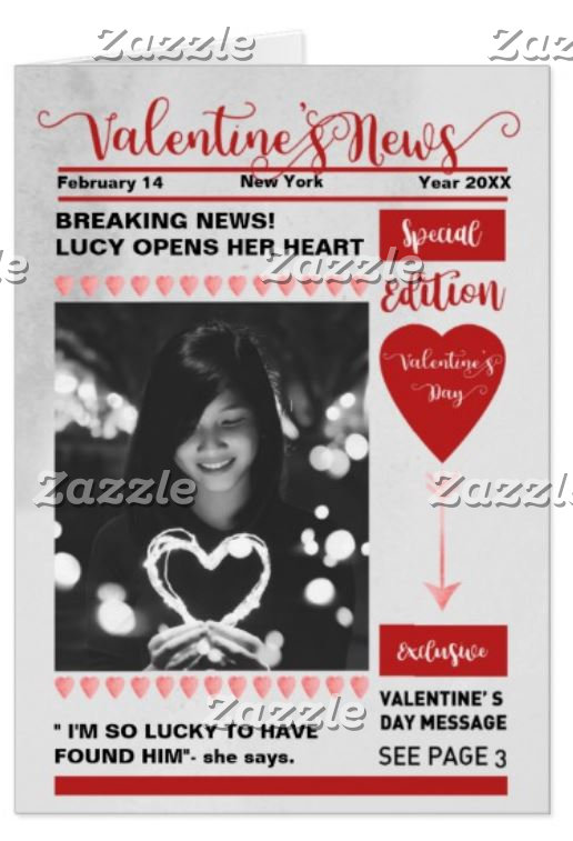 Newspaper Cover Special Edition Valentine's Day