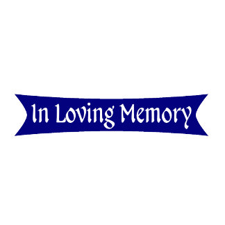 In Loving Memory Blue Ribbon