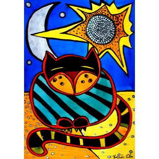 Cat Art - Sun and Moon
