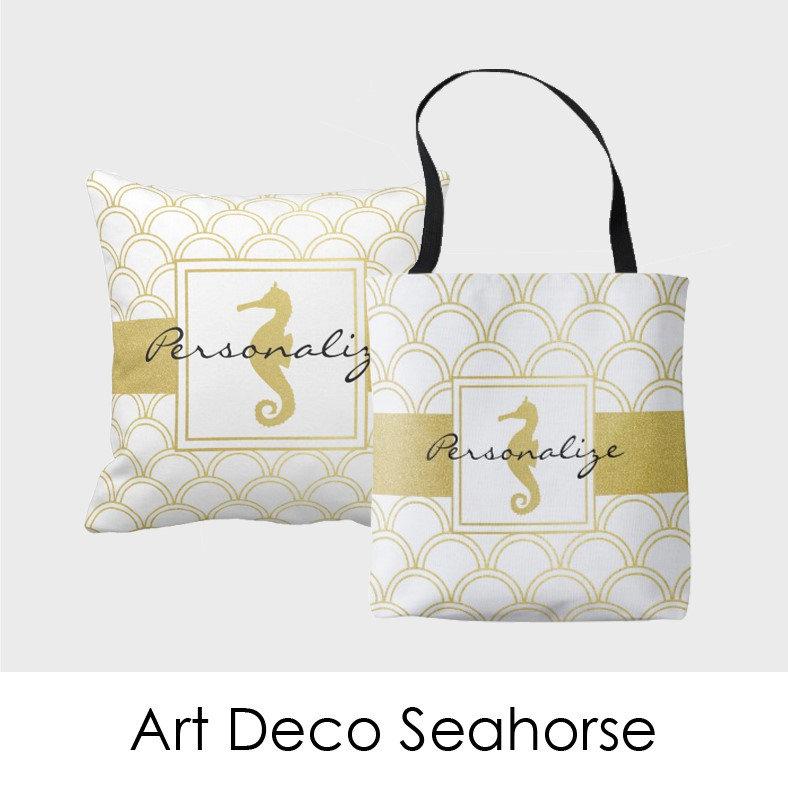 Art Deco Seahorse