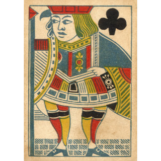 """Jack of Clubs Card Poster Print"""