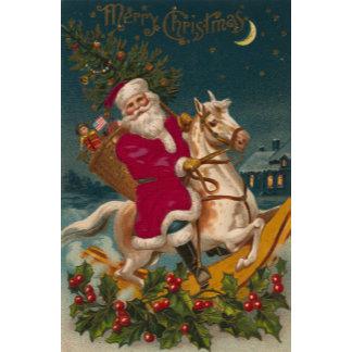old world santa on horse