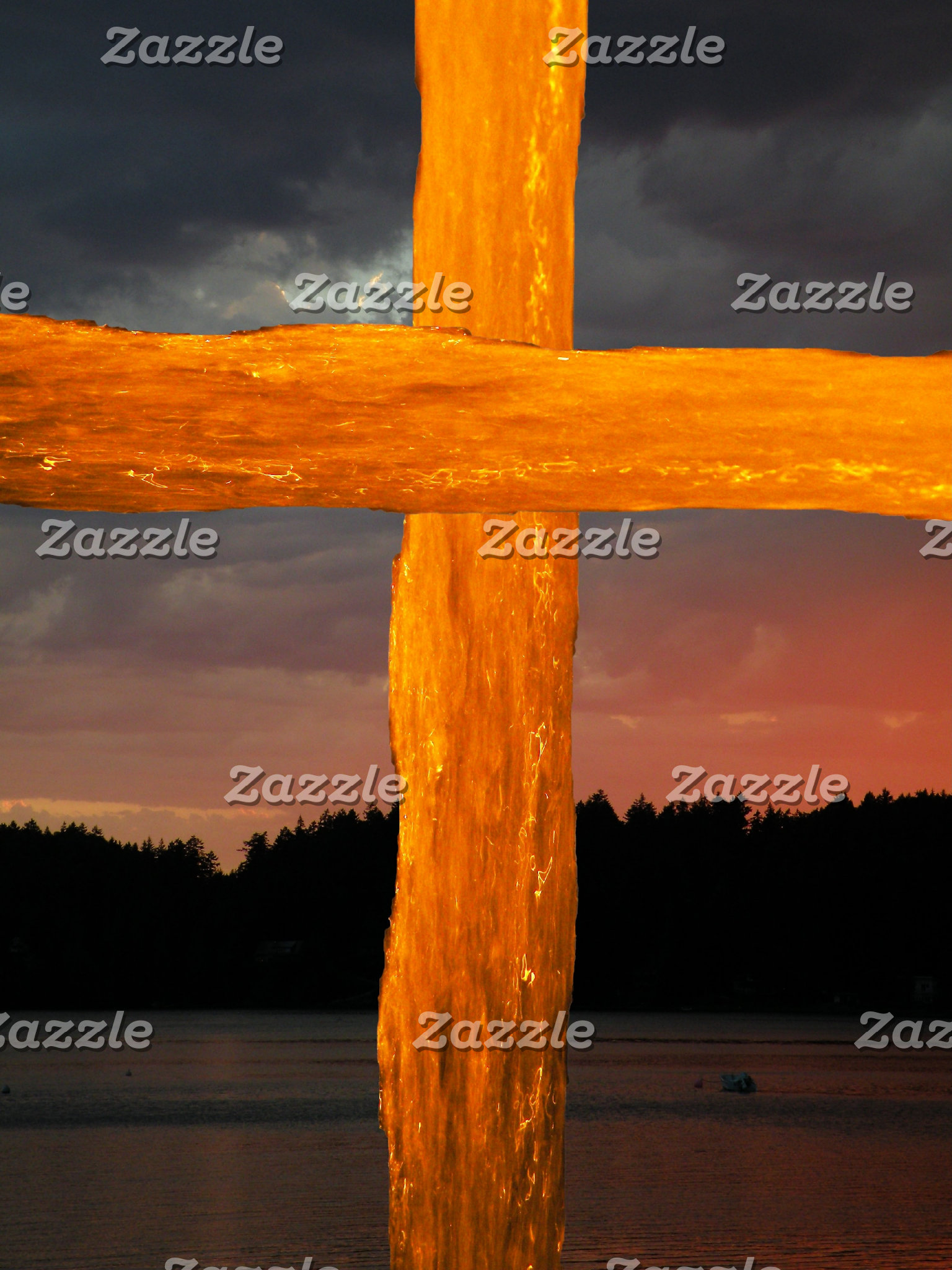 Water Cross - Sunset