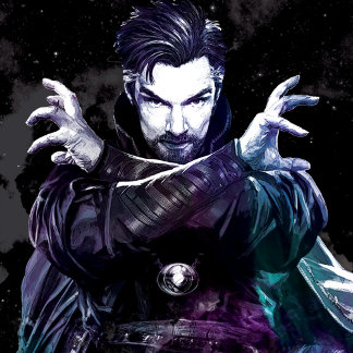 Doctor Strange Dark Watercolor Character Art