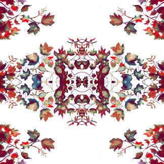 Red Vintage Florals