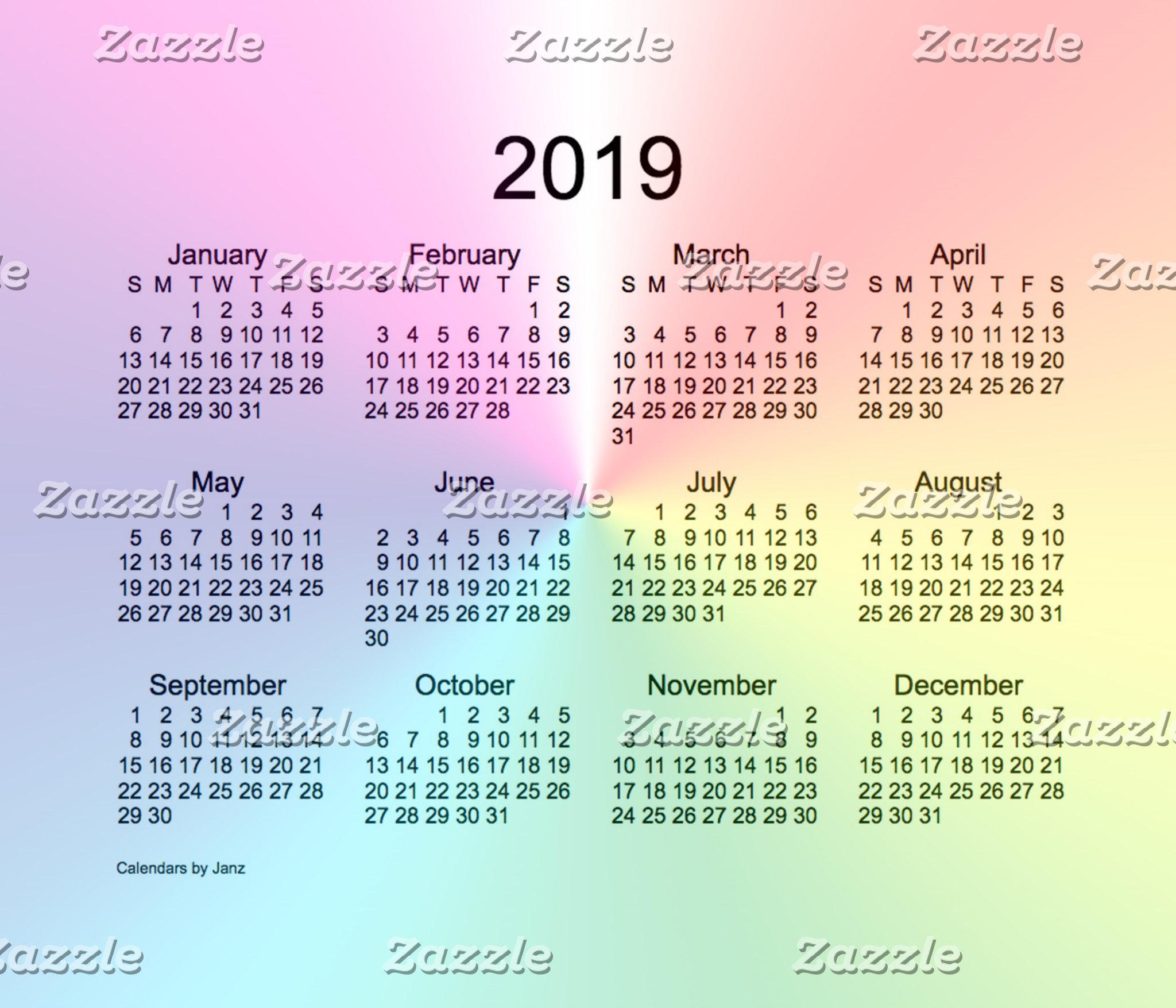 2019 Calendars by Janz
