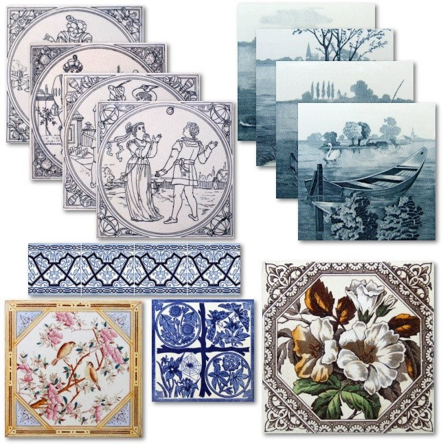 Transferware Tile