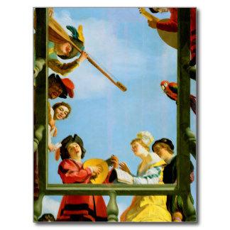 Musical Group on Balcony