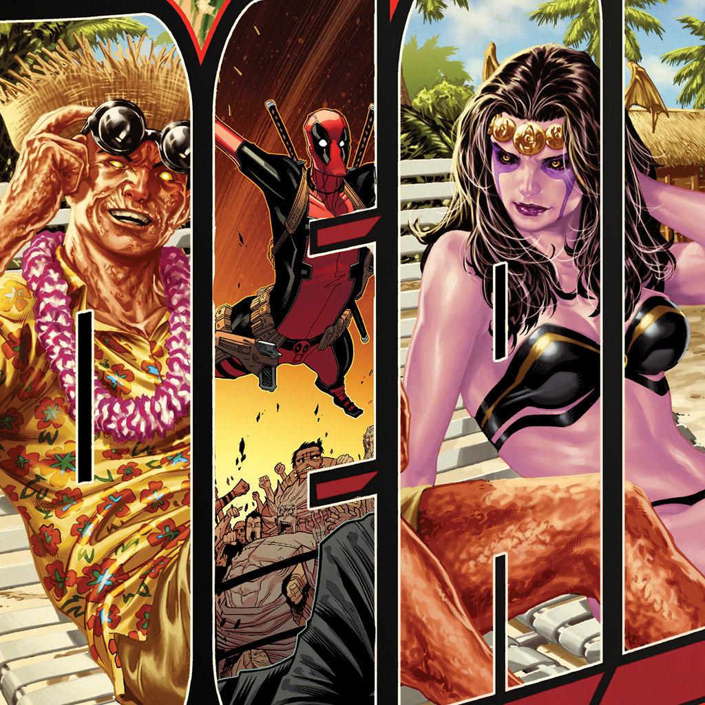 Deadpool Vacation Postcard