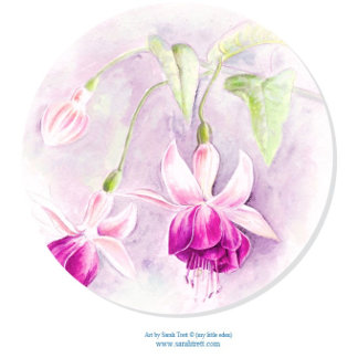 Fuchsia Watercolor Art