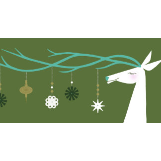 reindeer and ornaments