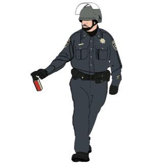 Casual Pepper Spray Cop