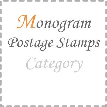 Monogram Postage Stamps