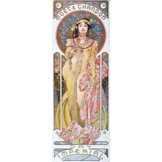 Art Nouveau Goddess Blue