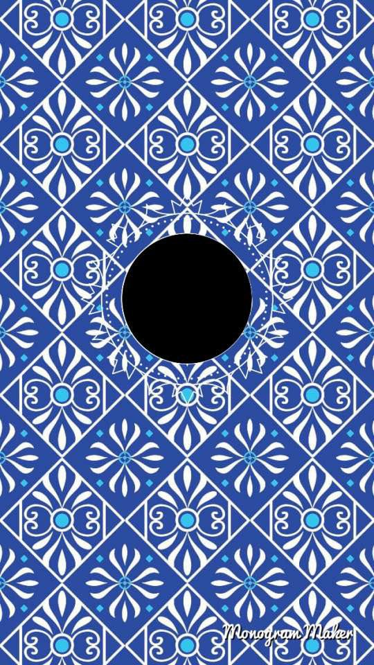 Blue and White Monogram