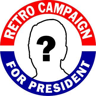 ! Retro Campaign Buttons