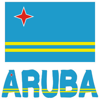 Aruban Flag and Aruba