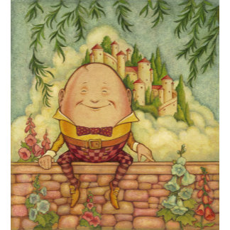 """Humpty Dumpty Mother Goose Poster Print"""