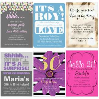 Invitations & Thank yous