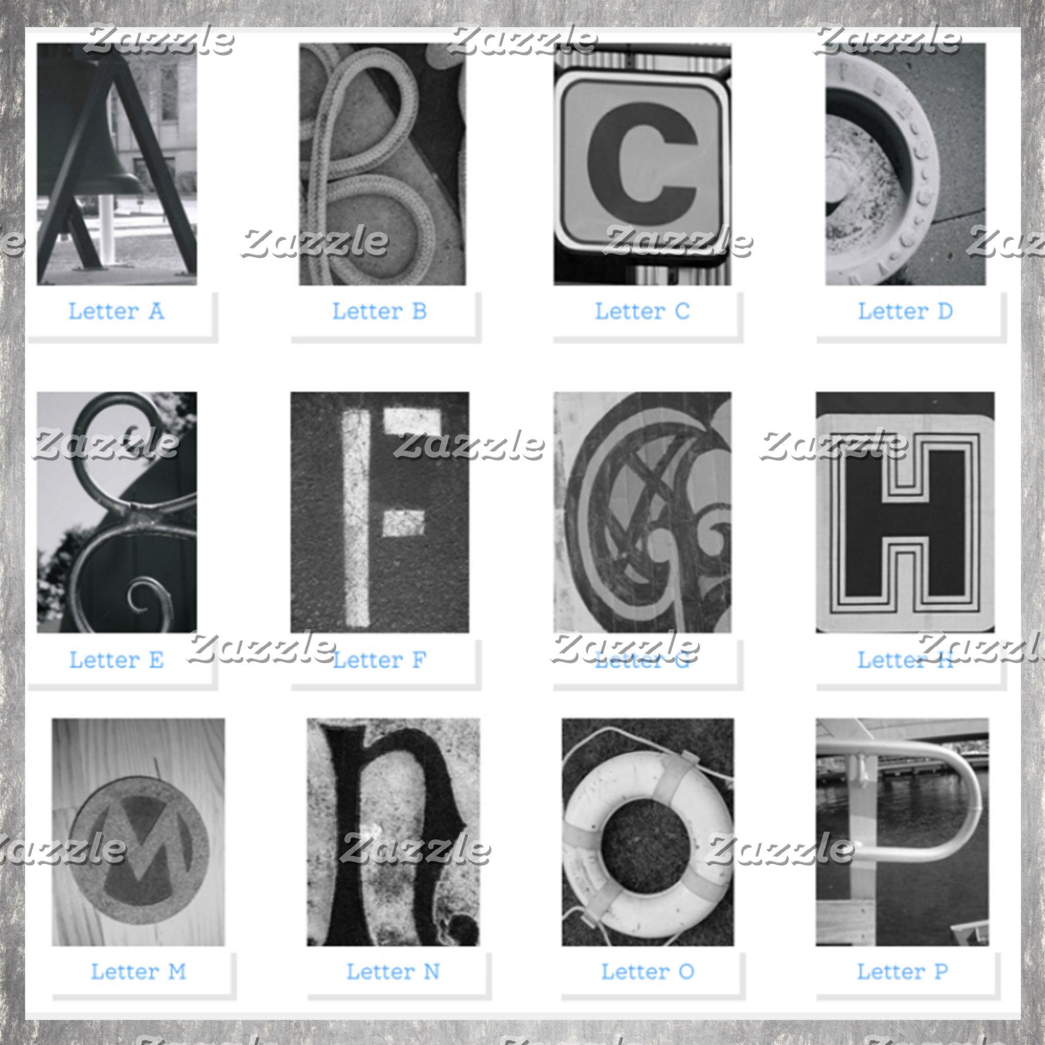 4x6 Alphabet Letters