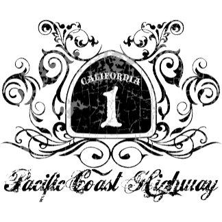 PCH Highway Sign -Grunge