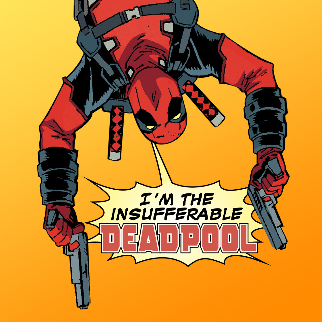 Deadpool Hanging From Harness