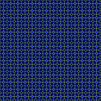 Tiles Pattern  Royal Blue