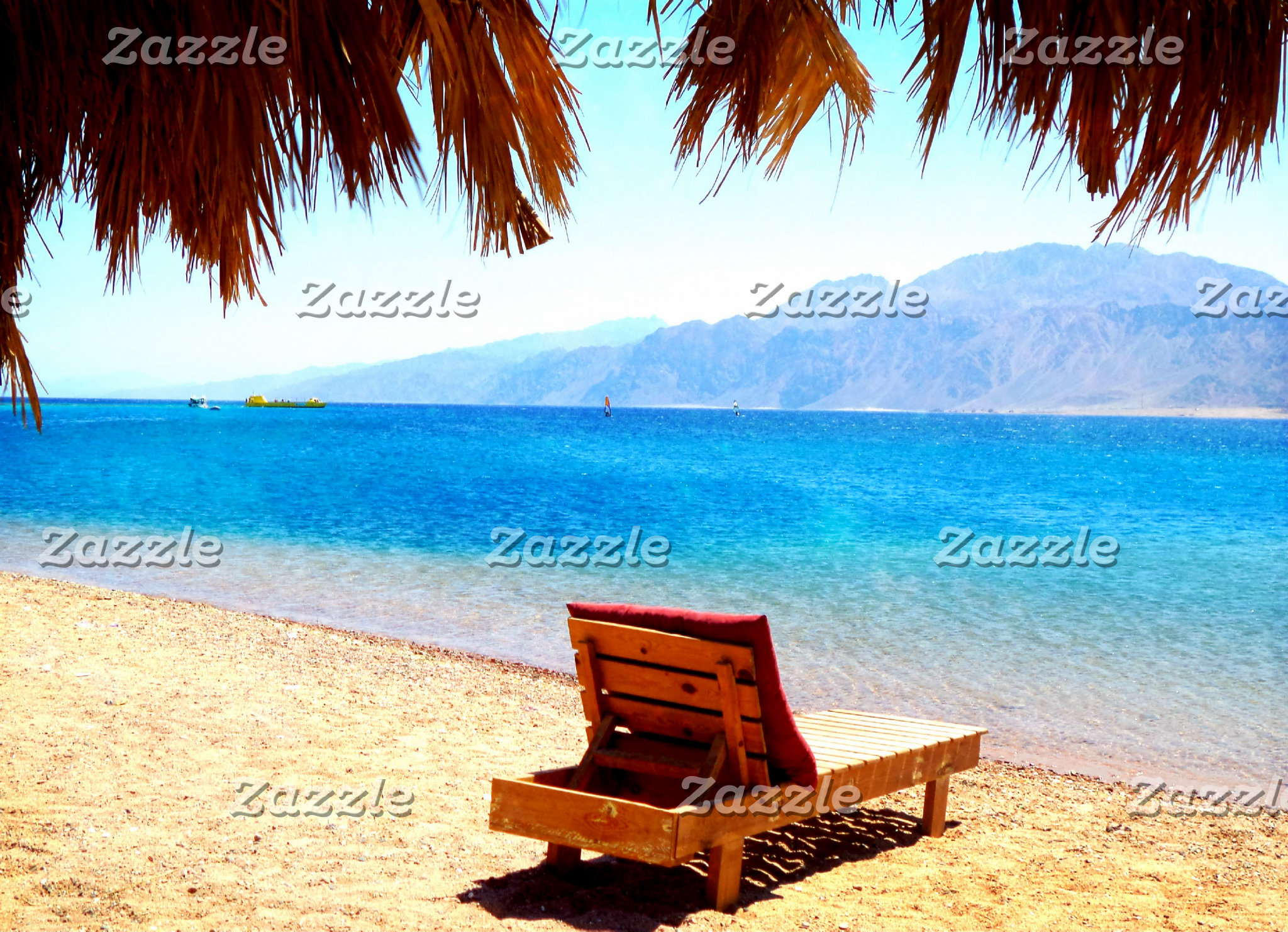 Beautiful, Scenic  sandy beach with blue water